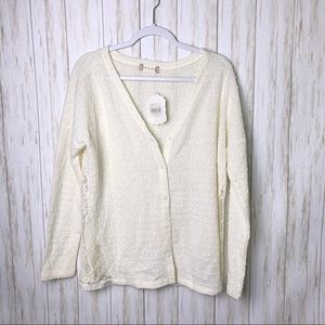 ALTAR'D STATE | NWT Ivory Knit Lace Cardig…